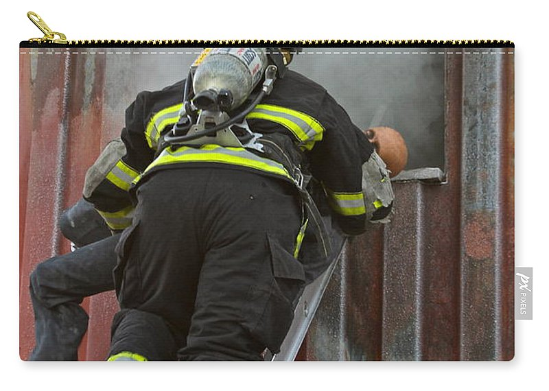 Firefighter Carry-all Pouch featuring the photograph What They Do by Rick Monyahan
