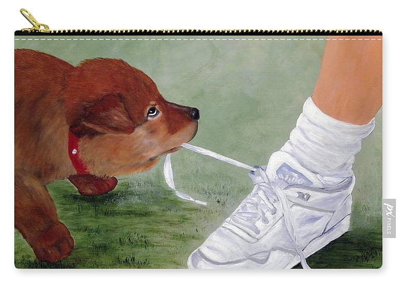 Kenny Francis Carry-all Pouch featuring the painting What Ya Gonna Do by Kenny Francis