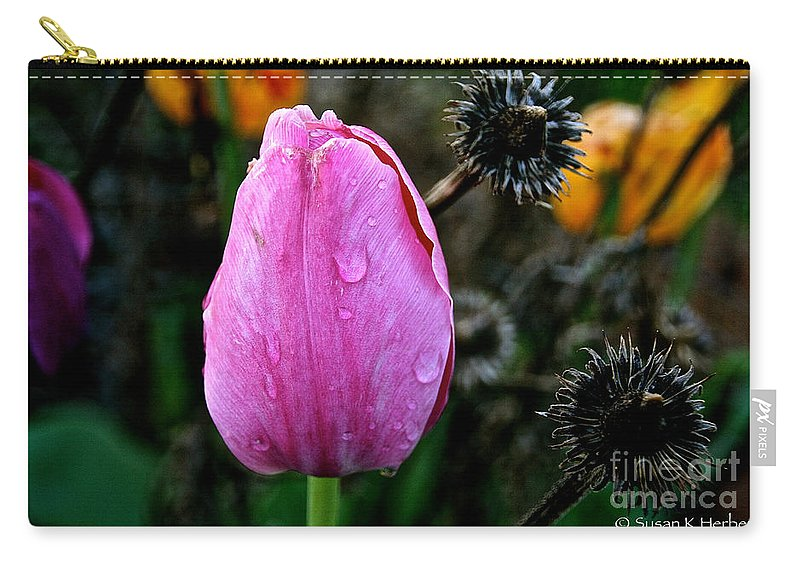 Flower Carry-all Pouch featuring the photograph What's Old And New by Susan Herber