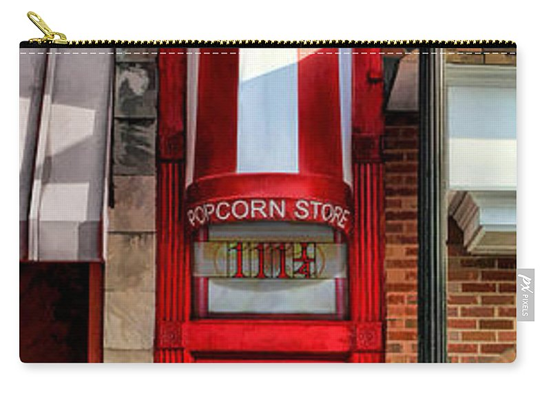 Little Popcorn Shop Carry-all Pouch featuring the painting Wheaton Little Popcorn Shop Panorama by Christopher Arndt