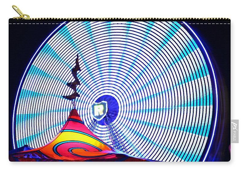 Ferris Wheel Carry-all Pouch featuring the photograph Wheel Of Light Work B by David Lee Thompson