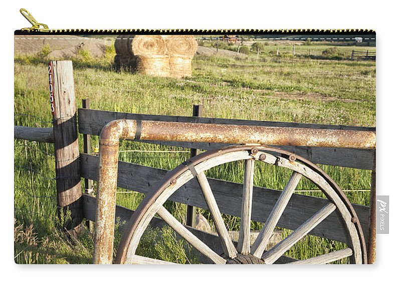 Colorado Carry-all Pouch featuring the photograph Wheelgate by Timothy Hacker