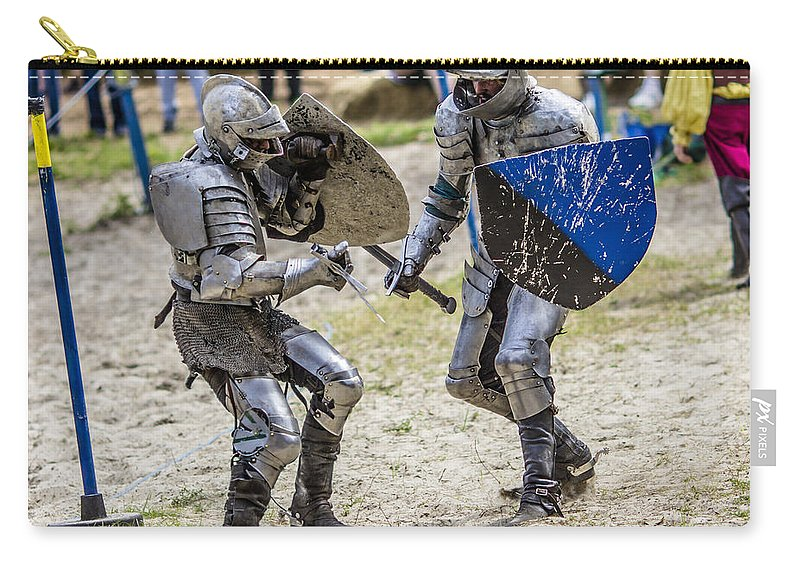 Knight Carry-all Pouch featuring the photograph When Losing Is Not An Option by Stephen Brown