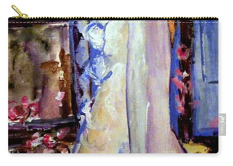 Women Carry-all Pouch featuring the painting When Lovely Women by Helena Bebirian