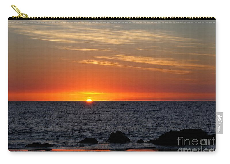 Sunset Carry-all Pouch featuring the photograph When The Sun Goes Down by James Brunker