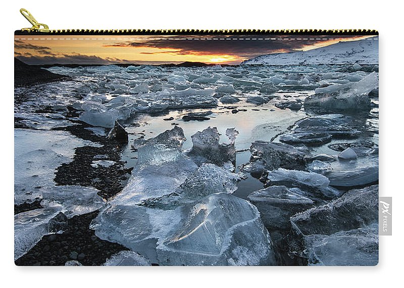 Scenics Carry-all Pouch featuring the photograph When The Sun Says ... Goodbye by Cresende