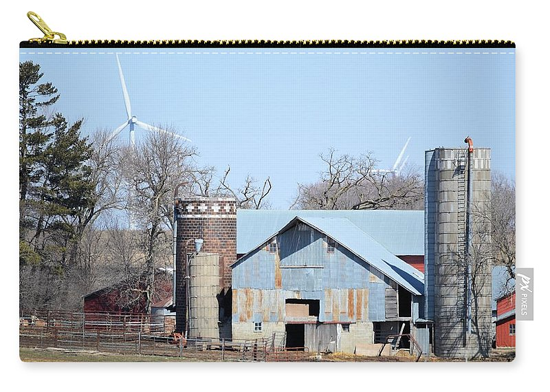 Barn Carry-all Pouch featuring the photograph When Worlds Collide by Bonfire Photography