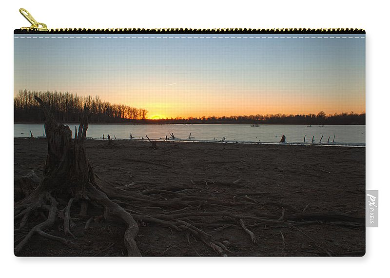 Ice Carry-all Pouch featuring the photograph Where Did The Water Go by Thomas Sellberg