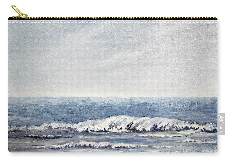 Seascape Carry-all Pouch featuring the painting Where I Want To Be by Todd A Blanchard
