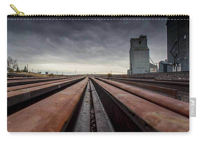 Lines Carry-all Pouch featuring the photograph Where It Goes-2 by Fran Riley