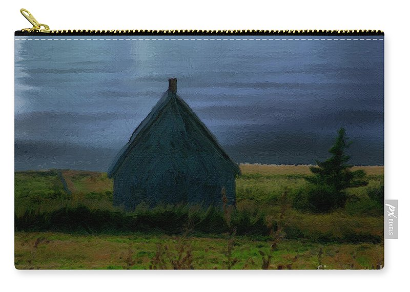 Moon Carry-all Pouch featuring the painting Where The Moon Meets The Water by RC DeWinter