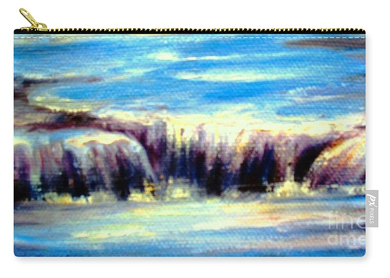 Water Carry-all Pouch featuring the painting Where The River Flows by Hazel Holland