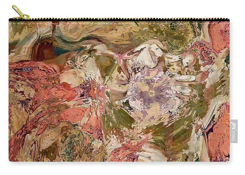 Abstract Carry-all Pouch featuring the digital art While The Lady Lay Sleeping by Georgiana Romanovna