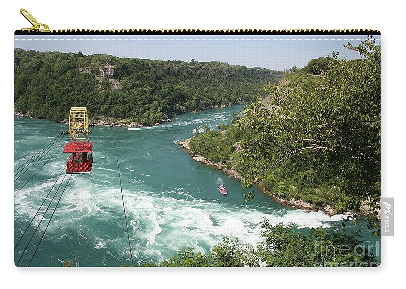 Whirlpool Aero Car Carry-all Pouch featuring the photograph Whirlpool Aero Car Niagara Gorge by Christiane Schulze Art And Photography