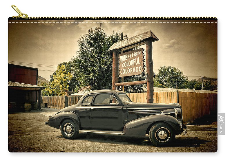 Vintage Car Carry-all Pouch featuring the photograph Whisky From Colorful Colorado by Ken Smith