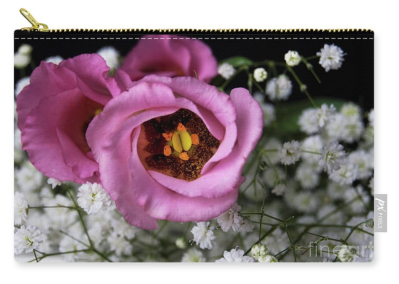 Festblues Carry-all Pouch featuring the photograph Whisper Of Love.. by Nina Stavlund