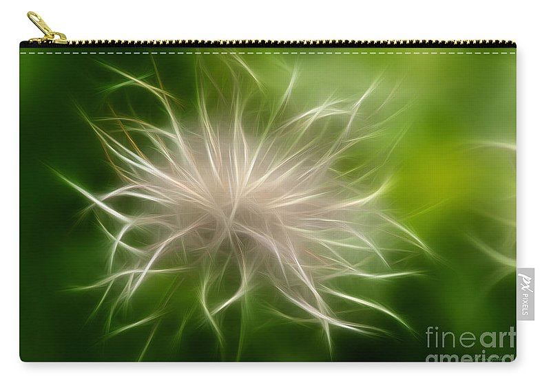 Weed Carry-all Pouch featuring the digital art Whisper by Teresa Zieba
