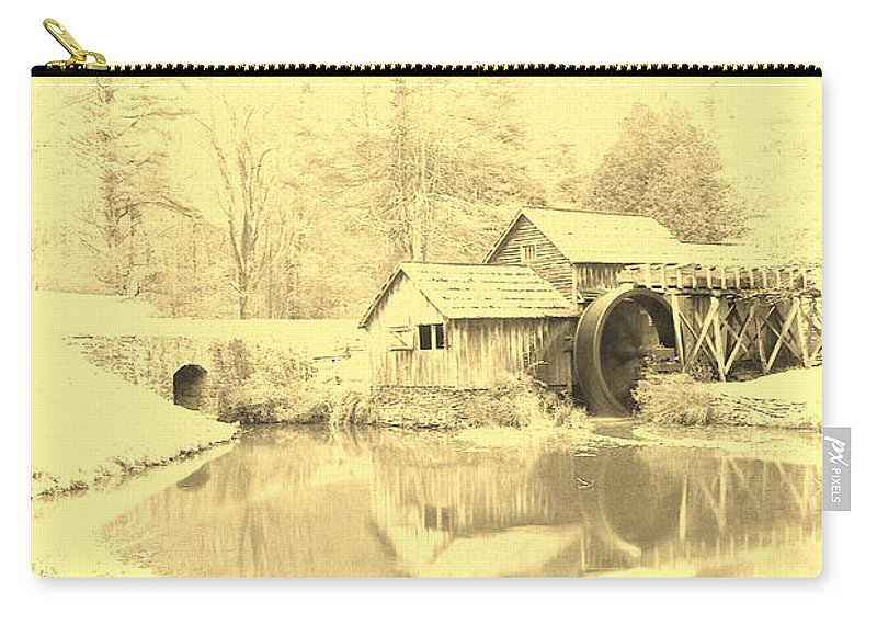 Mabry Mill Carry-all Pouch featuring the photograph Whispers Of Mabry Mill by Kathy Clark