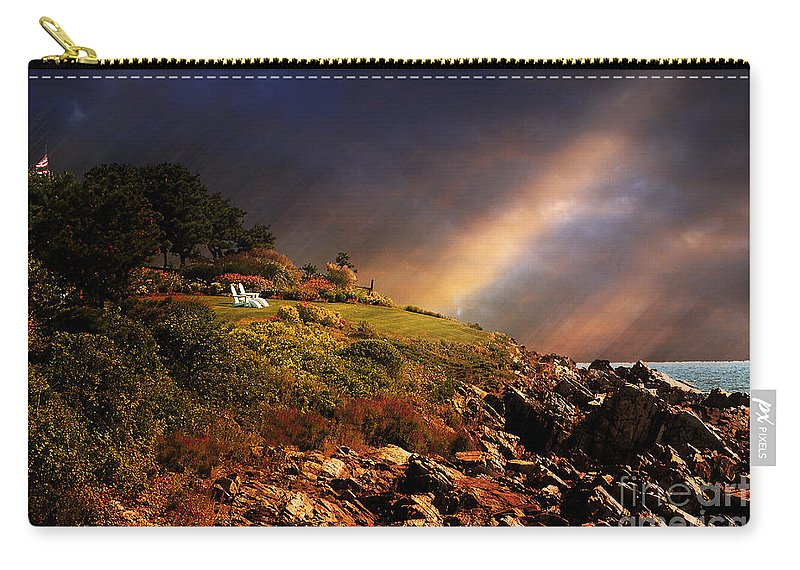Summer Carry-all Pouch featuring the photograph White Adirondacks by Lois Bryan
