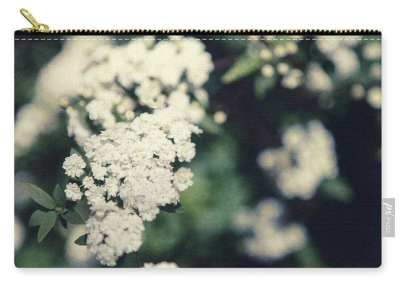 Spring Carry-all Pouch featuring the photograph White Blossom by Lisa R