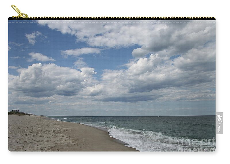 Clouds Carry-all Pouch featuring the photograph White Clouds Over The Ocean by Christiane Schulze Art And Photography