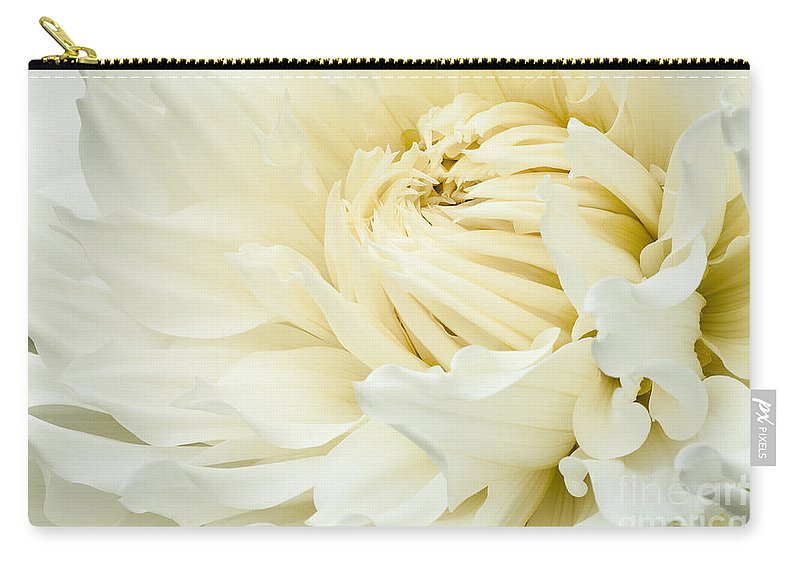 Walter Hardisty Carry-all Pouch featuring the photograph White Dahlia by Joe Mamer