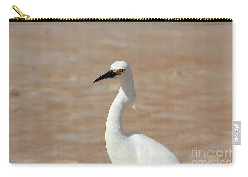 Egret Carry-all Pouch featuring the photograph White Egret by Jackie Mestrom