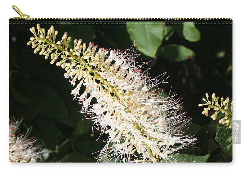 White Flowers Carry-all Pouch featuring the photograph White Flower Panicle by Christiane Schulze Art And Photography