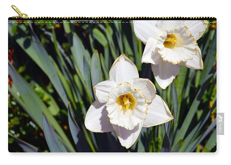 Flower Carry-all Pouch featuring the photograph White Flowers by Brent Dolliver