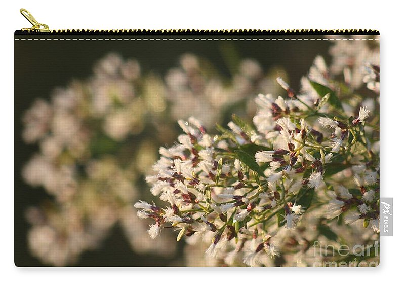 White Carry-all Pouch featuring the photograph White Flowers by Nadine Rippelmeyer