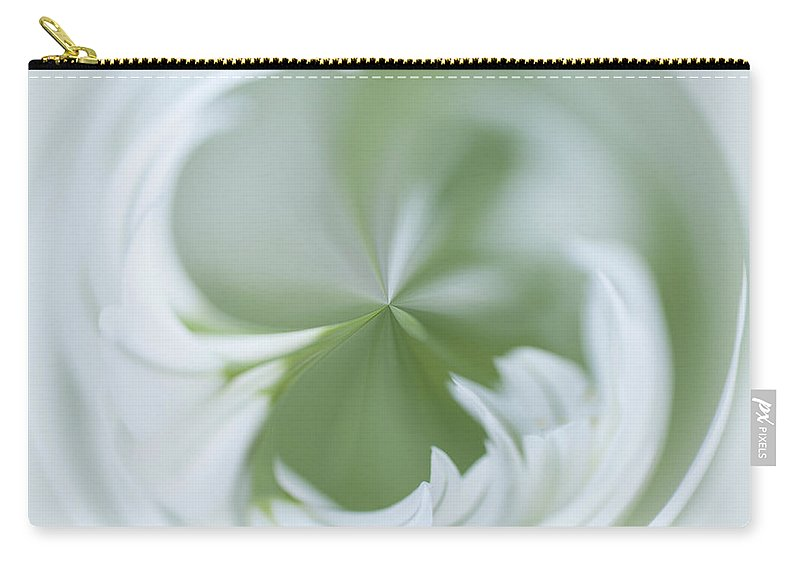 Alliaceae Carry-all Pouch featuring the photograph White Green And Round by Anne Gilbert