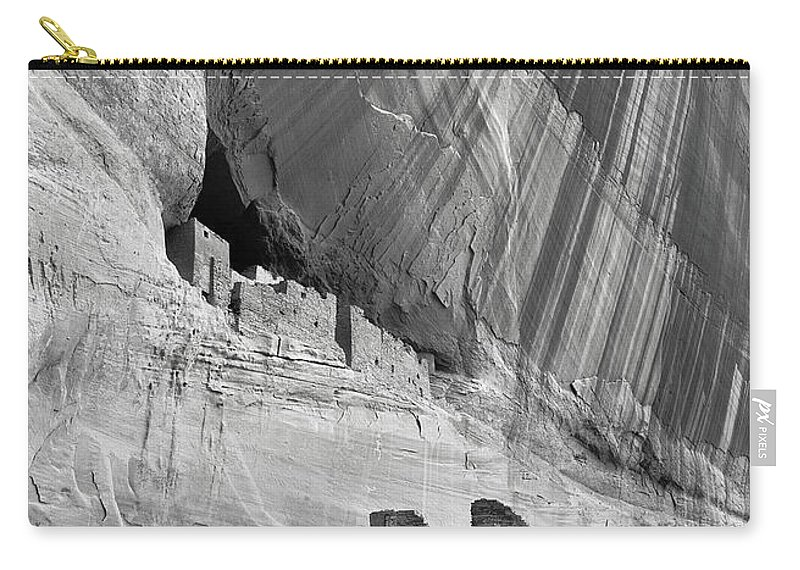 White House Carry-all Pouch featuring the photograph White House Black And White by Jerry Fornarotto