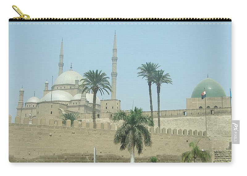 Egypt Carry-all Pouch featuring the photograph White Mosque by Katerina Naumenko