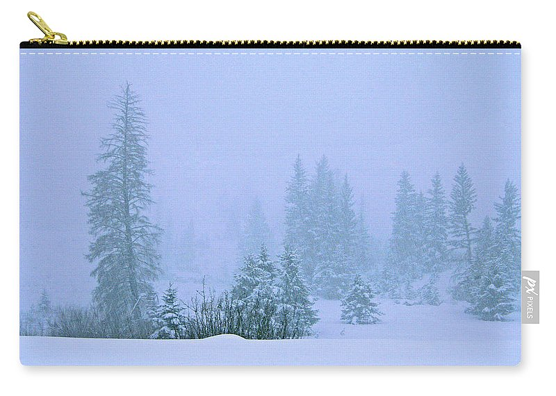 Turqoise Lake Carry-all Pouch featuring the photograph White Noise by Jeremy Rhoades