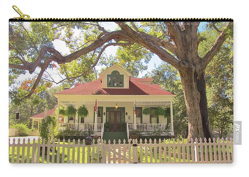 Jefferson Texas Carry-all Pouch featuring the photograph White Oak Manor Jefferson Texas by Donna Wilson