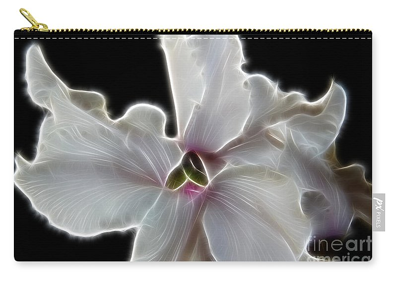 White Orchid Carry-all Pouch featuring the photograph White Orchid by Mariola Bitner
