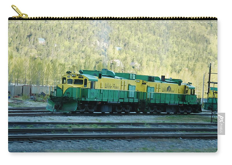Train Carry-all Pouch featuring the photograph White Pass Railroad 2 by Tracy Winter