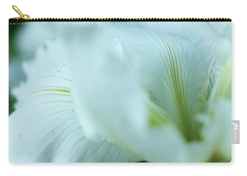 Nature Carry-all Pouch featuring the photograph White Petals by Valerie Loop