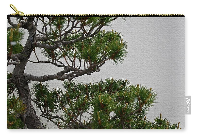 Tree Carry-all Pouch featuring the photograph White Pine Bonsai by Susan Herber