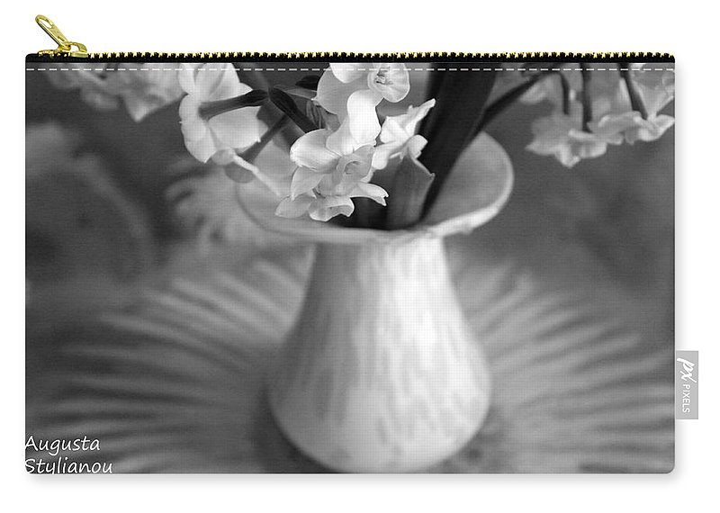Augusta Stylianou Carry-all Pouch featuring the photograph White Rays And Flowers by Augusta Stylianou