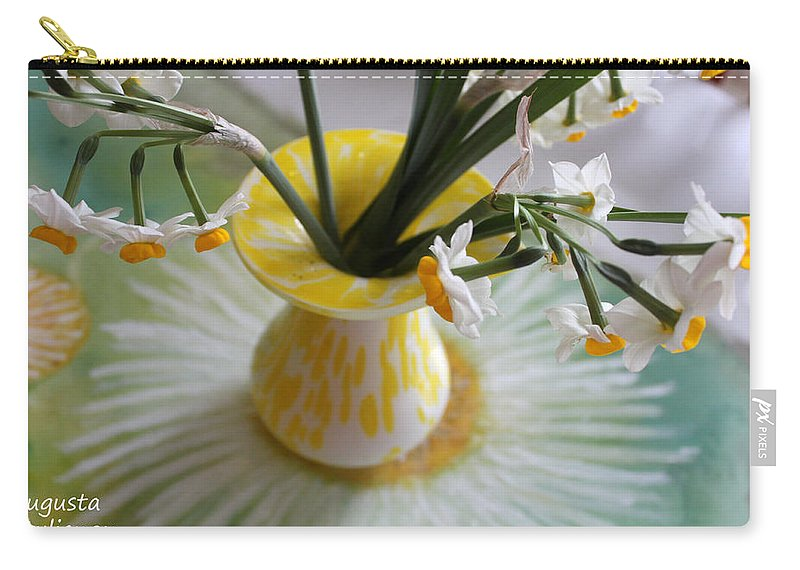Augusta Stylianou Carry-all Pouch featuring the photograph White Rays And Narcissus by Augusta Stylianou