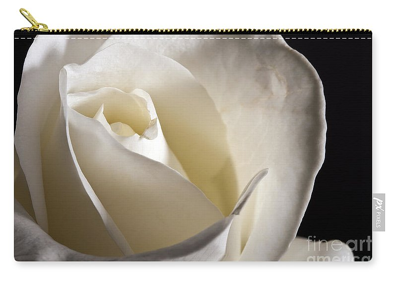 Beautiful Carry-all Pouch featuring the photograph White Roses by Gunnar Orn Arnason