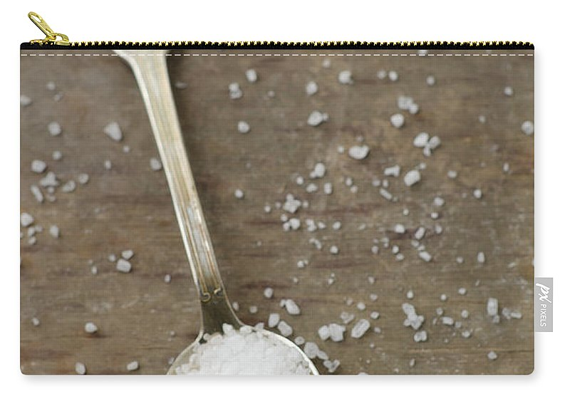 Spoon Carry-all Pouch featuring the photograph White Sea Salt by Tania Mattiello