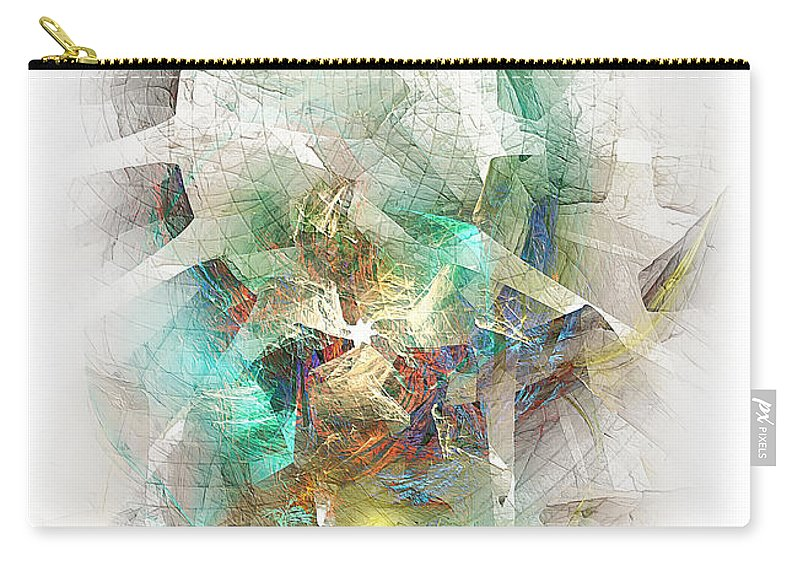 Abstract Carry-all Pouch featuring the digital art White Star 474-09-13 Marucii by Marek Lutek