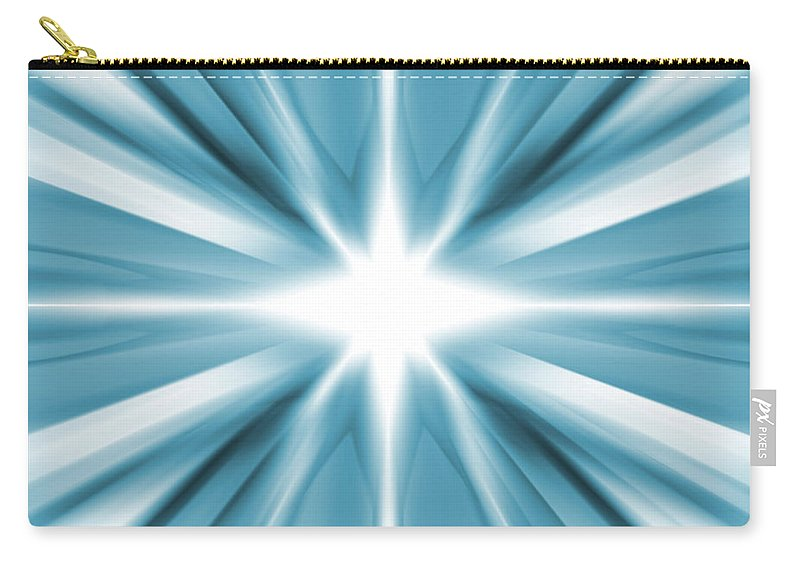 Background Carry-all Pouch featuring the digital art White Star by Steve Ball