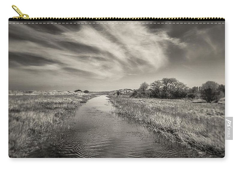 White Swan Carry-all Pouch featuring the photograph White Swan by Dave Bowman