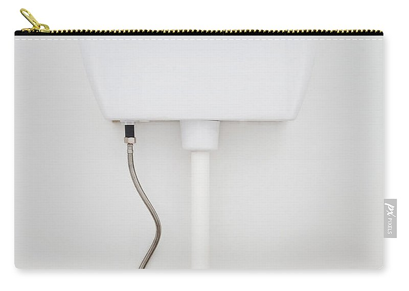 Background Carry-all Pouch featuring the photograph White Toilet by Tim Hester