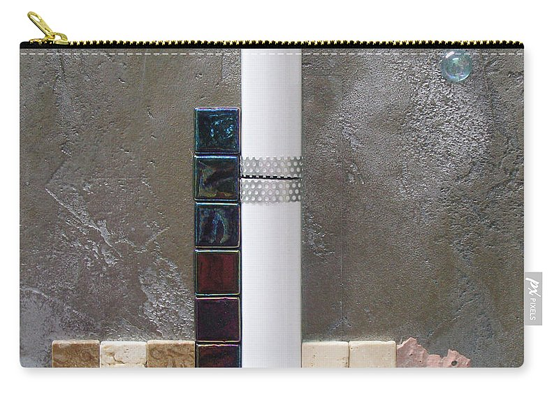 Assemblage Carry-all Pouch featuring the relief White Tower by Elaine Booth-Kallweit