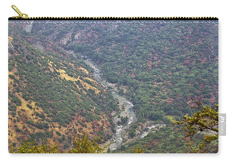 Kings Canyon Carry-all Pouch featuring the photograph White Waters by Angela Stanton
