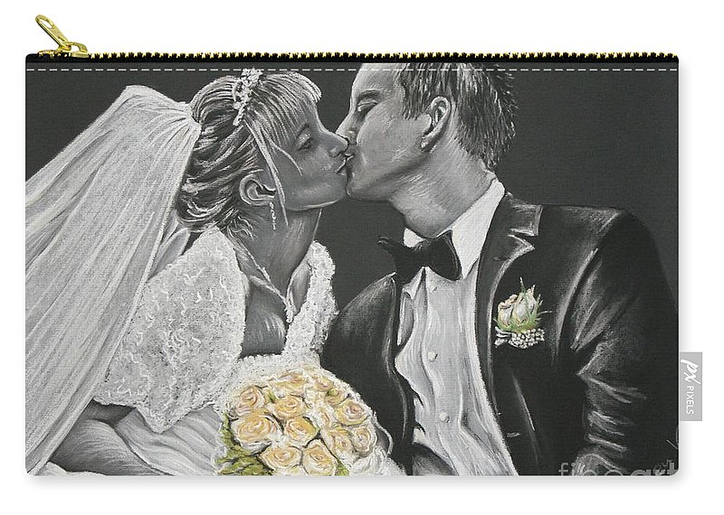 Marriage Carry-all Pouch featuring the pastel White Wedding by Katharina Filus